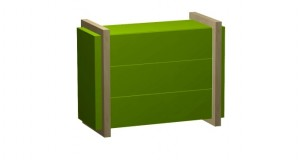 Komoda COLOUR, 1000_400_700, lamino-zobrazeno v zelená+javor, 15 290,-Kč#9CDA